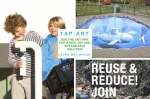 Tap-Art - kunstzinnige tappunten- minder afval en gezond met kraanwater uit hervulbare fles - Leven met Water