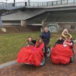 Wandelen voor Water Nijmegen 180321 - meedoen met riksja - foto Cor Litjens