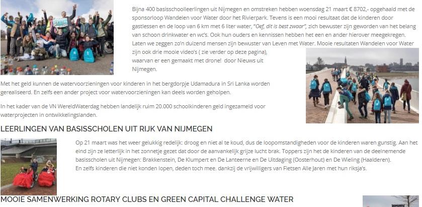 Top resultaten Wandelen voor Water Nijmegen - deel Nieuws art
