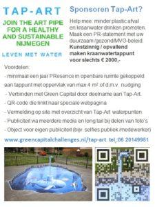 sponsoren tap-art flyer, healthy and sustainable Nijmegen